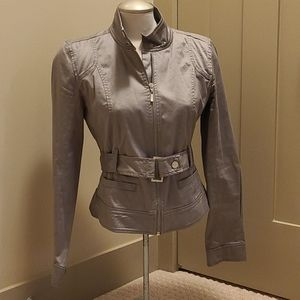 Mexx dove gray moto jacket. Size 8